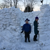 An igloo in Thunder Bay