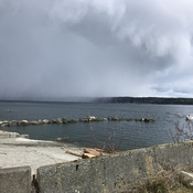 Hail storm Campbell River