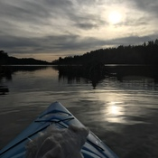 Kayaking in March