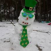 St Patty's snowman