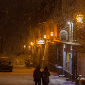 Old Quebec City Snowfall