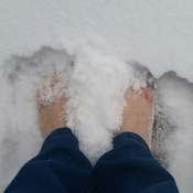 Freezing my feet to prove a point