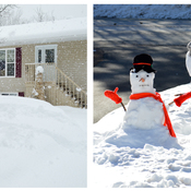 One snowmen made after each of 3 Nor'easters.