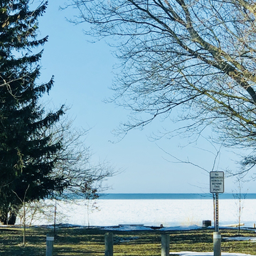 Snow,lake,sunshine