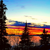Lake Superior sunset in March