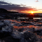 Icy Sunset