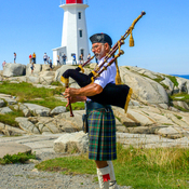 Piper At Peggy's Cove