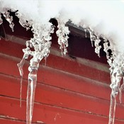Amazing Rooftop Icicles