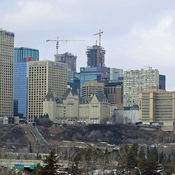 Edmonton Skyline On a Cloudy Day