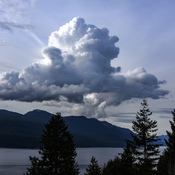 Weather coming over Sechelt Inlet