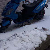 e bike full of snow
