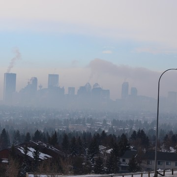 The daily Inversion in Calgary. Unless the wind comes along. Have a read on inve