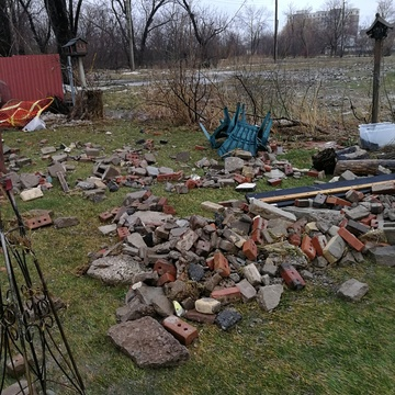 Aftermath. Back yard devastated.
