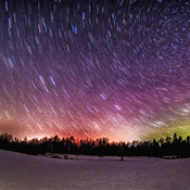 northern lights in the extended winter