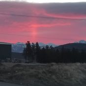 Happy Friday! Sunrise in Cranbrook BC
