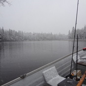 Snow fishing April 20th