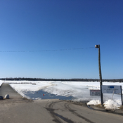 Ice road closed in Dryden