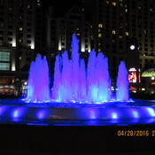 Fountains at night