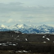 Plenty of snow up on the Livingstone Range of the Alberta Rocky Mountains