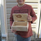 Ben had a great time this week end building! (nothing better then sanding outsi