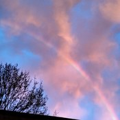 Sunrise rainbow