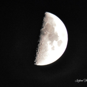 Earth Day First Quarter Moon