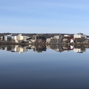 Perfect mirror image of Fredericton