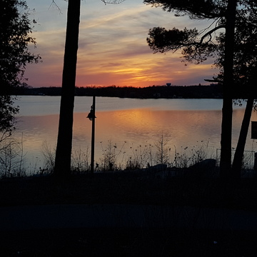 sunset in Wilcox Lake
