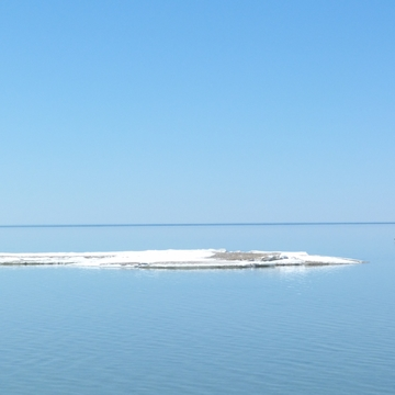 Floating ice on Georgian Bay, April 22nd, 2018 .