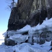 Ice buildup along Lake Temiskaming