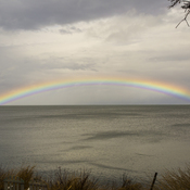 Rainbow over Bay of Fundy