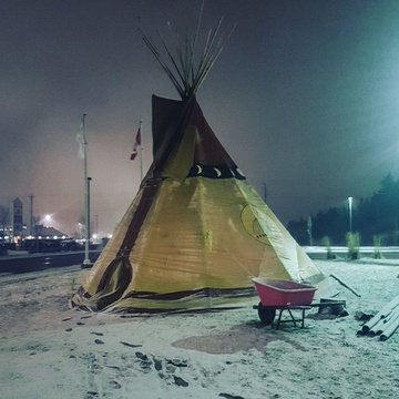 Chilly night on the rez