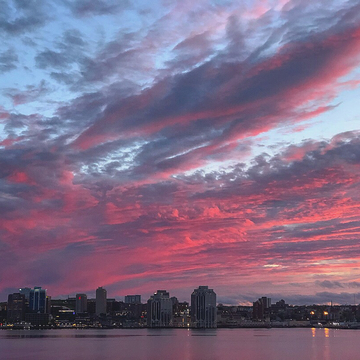 Cotton Candy Skies Over Halifax