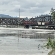 Train over high water