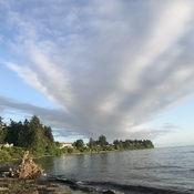 Interesting morning sky in Parksville.