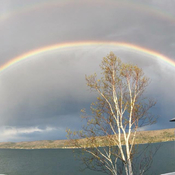 Great Way to end a long weekend ! Double Rainbow.