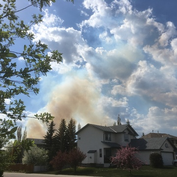 Wildfire near Cochrane