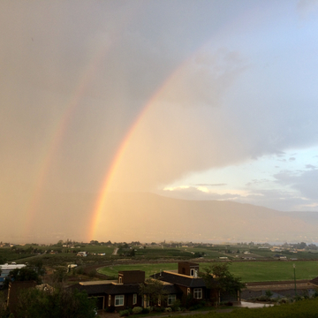 Osoyoos Thunderstorm rainbows