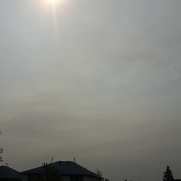 Smokey sun in Ft Mac