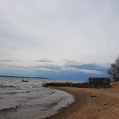 Storm rolling in at Point Du Chene Ontario