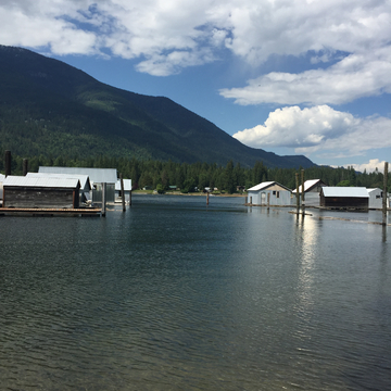 Procter private Boathouses on Kootenay River