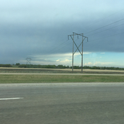 Thunder storm south of Brandon Manitoba