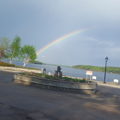 Rainbow over Howey Bay