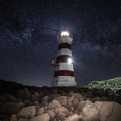Brier Island Light at Night III