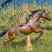 Chipmunk on a Model Horse