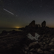The International Space Station above Cape Split, N.S.