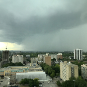 June 13 Toronto storm approaching St Clair & Bathurst