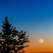 Skyline Trail and Crescent Moon