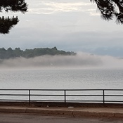 Fog at Blockhouse Island in Brockville, Ontario