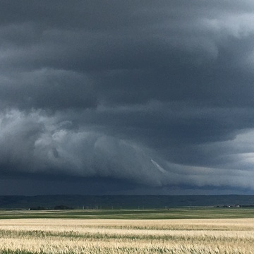 Weather over Warner, AB